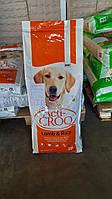 Полноценный сухой корм для взрослых собак  Акти-крок с бараниной и рисом Испания мешок 20 кг