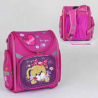 Рюкзак школьный каркасный с 1 отделением и 3 карманами, спинка ортопедическая, 3D принт SKL11-186089