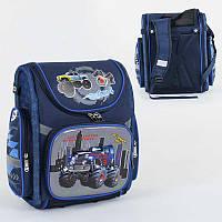Рюкзак школьный каркасный с 1 отделением и 3 карманами, спинка ортопедическая, 3D принт SKL11-186137