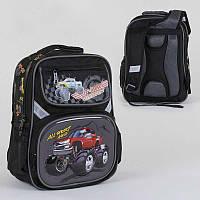 Рюкзак школьный с 2 отделениями и 4 карманами, ортопедическая спинка, 3D принт SKL11-186155