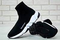Кроссовки-носки  мужские высокие черные Balenciaga Speed