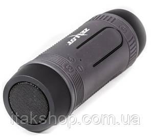 Бездротова Bluetooth колонка Zealot S29 10W ліхтарик, Power Bank, радіо (Black)