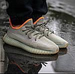 Чоловічі кросівки Adidas Yeezy 350 v2 «Desert Sage» (сірі) 364TP, фото 8
