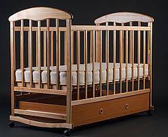 """Дитяче ліжечко """"Наталка"""" з шухлядою світле."""