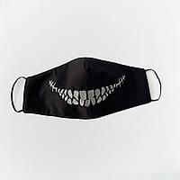 """Защитная маска для лица """"Death Smile"""" Черный"""