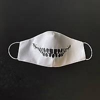 """Защитная маска для лица """"Death Smile"""" Белый"""
