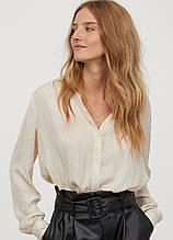 Молочна однотонна блуза H&M демісезонна