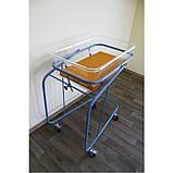Ліжечко новонародженого на колесах з кювезом і матрасиком, фото 2