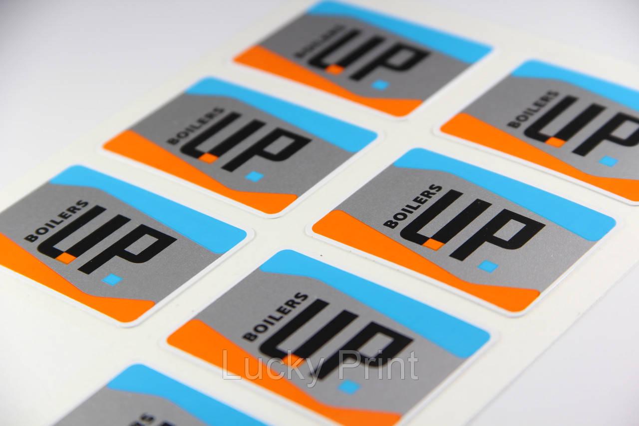 Логотипы на оборудование на пвх-плёнке