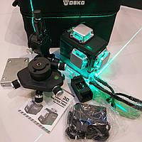 АКЦИЯ* БИРЮЗОВЫЙ ЛУЧ Лазерный уровень Deko 3D DKLL12PB2 12линий НОВИНКА 2020