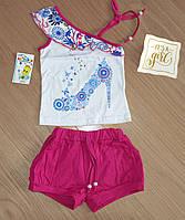 Летняя футболка и шорты для девочки, рост 98 см