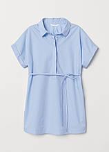 Однотонна блакитна блуза H&M річна
