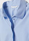 Голубая однотонная блузка H&M летняя, фото 2