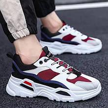 Кросівки чоловічі Casual 8533 біло-червоні
