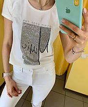 Футболка жіноча M(р) біла 31263-002 RAW Туреччина Літо-C