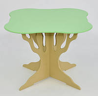 """Стол """"Мася"""" (ножка в форме дерева квадрат салатовый) Бамсик /1/(5210)"""