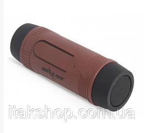 Портативна Bluetooth вело колонка Zealot S1 Ліхтарик Радіо (Коричневий)