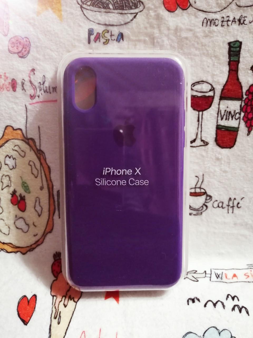 Чехол iPhone X / Xs Soft Touch Silicone Case с микрофиброй внутри (MKX32FE) - Color 24