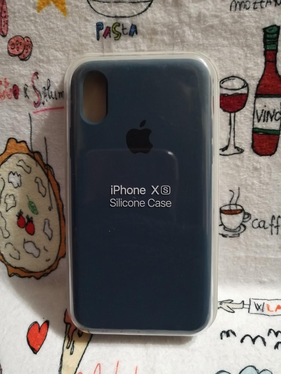 Чехол iPhone X / Xs Soft Touch Silicone Case с микрофиброй внутри (MKX32FE) - Color 28