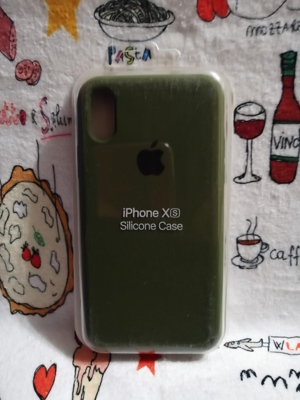 Чехол iPhone X / Xs Soft Touch Silicone Case с микрофиброй внутри (MKX32FE) - Color 27