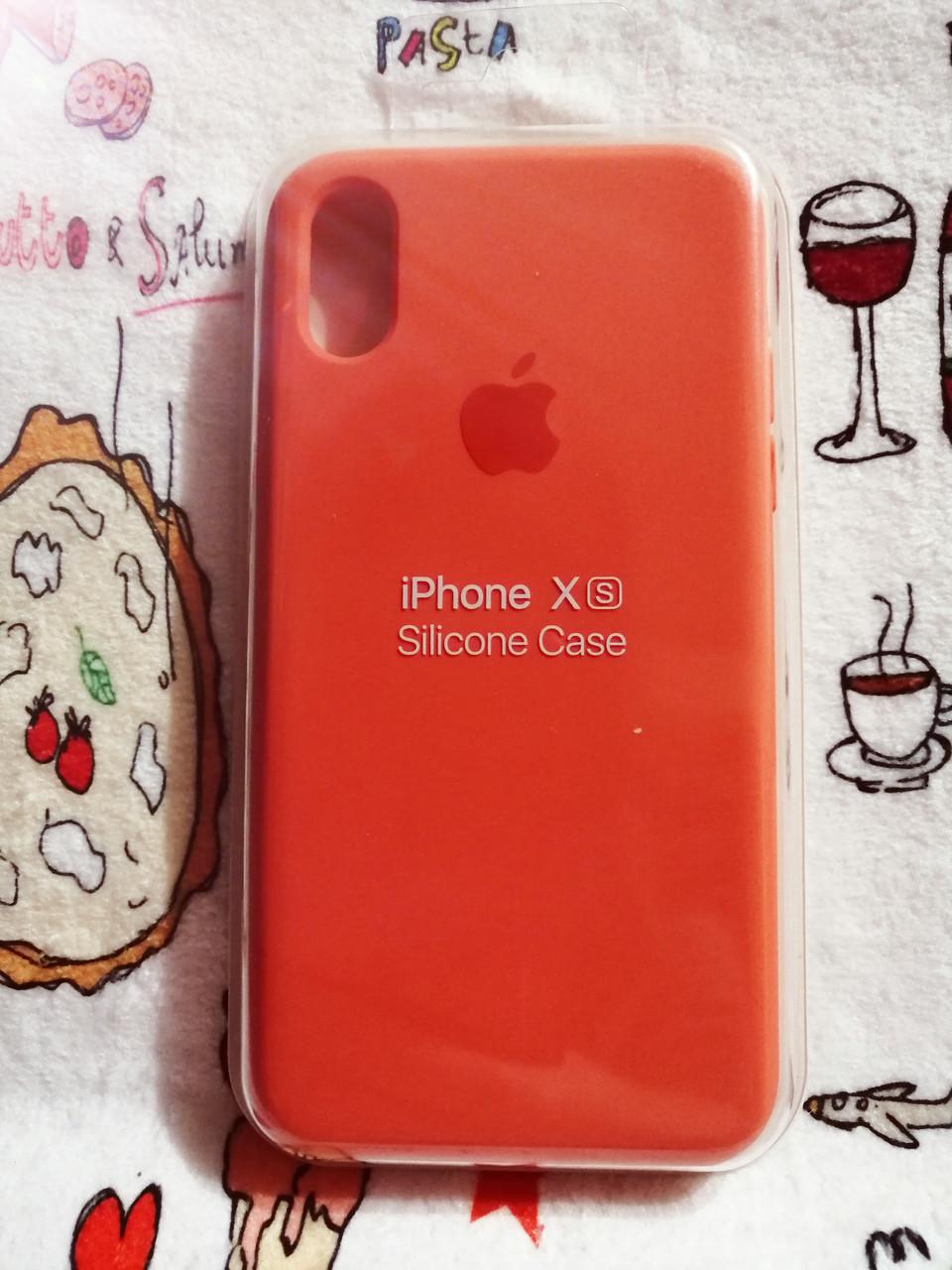 Чехол iPhone X / Xs Soft Touch Silicone Case с микрофиброй внутри (MKX32FE) - Color 8