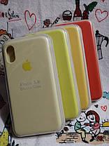 Чехол iPhone X / Xs Soft Touch Silicone Case с микрофиброй внутри (MKX32FE) - Color 8, фото 3