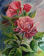 Картина маслом на холсте Розы