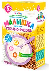 "Каша молочная Гречнево-рисовая ""Малышка"" с 5 месяцев, 250 гр."