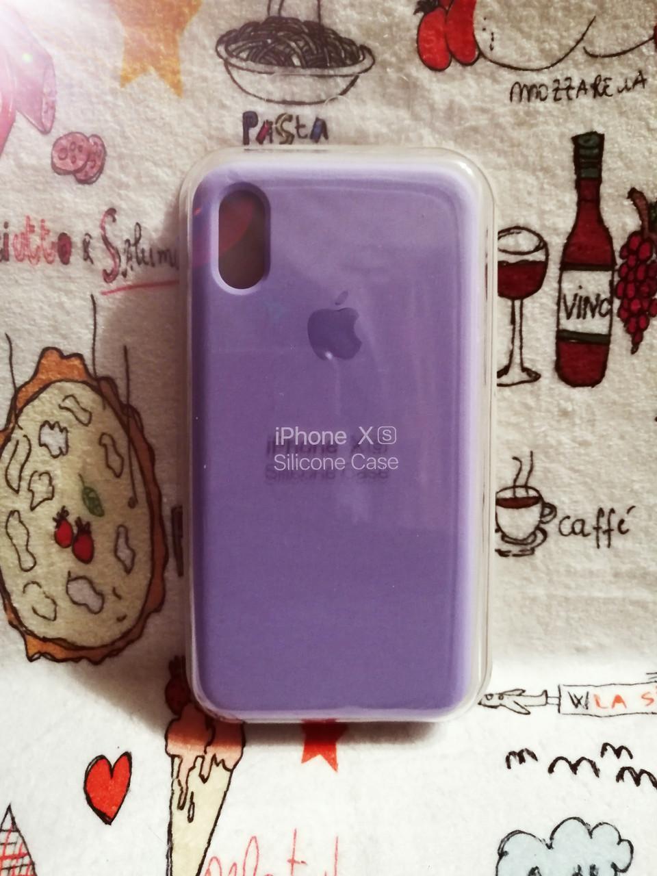 Чехол iPhone X / Xs Soft Touch Silicone Case с микрофиброй внутри (MKX32FE) - Color 22