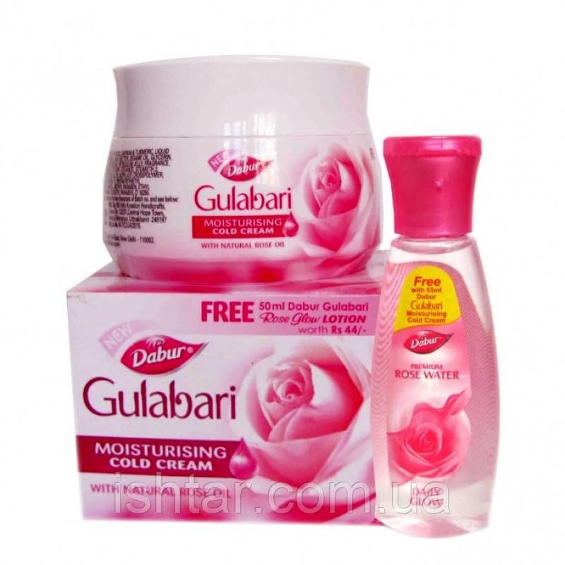 Gulabari Dabur 59ml. + Rose Water 55ml. (Free) Охлаждающий крем + Розовая вода
