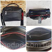 Женская кожаная сумка трансформер на два отделения Polina & Eiterou, фото 10
