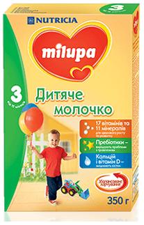 Cуміш молочна суха Milupa 3, 350г