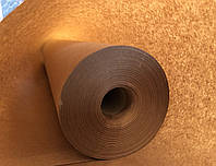 Крафт бумага тонкая рулон 62см*100 метров, пл.40 г/м2, вес 2.48 кг коричневая упаковочная оберточная, Беларусь