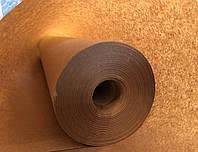 Крафт бумага упаковочная тонкая рулон 62см*100 метров, пл.40 г/м2, вес 2.48 кг коричневая оберточная, Беларусь