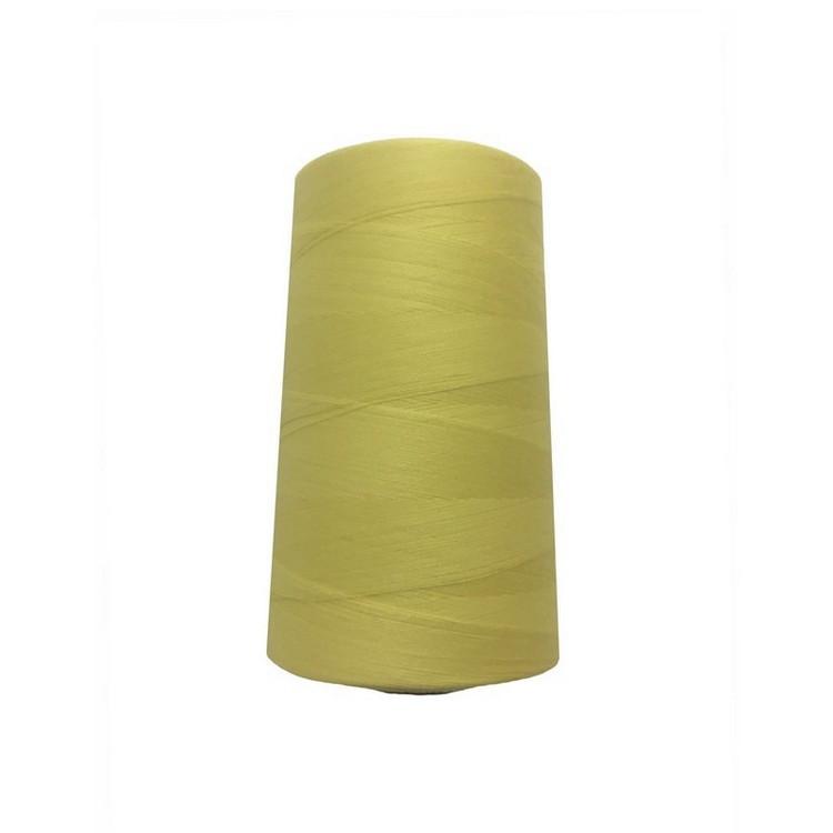 Швейна нитка 100% PE 50/2 кол S-089 жовтий блідий (боб 4000ярдов/12боб/120боб) NITEX