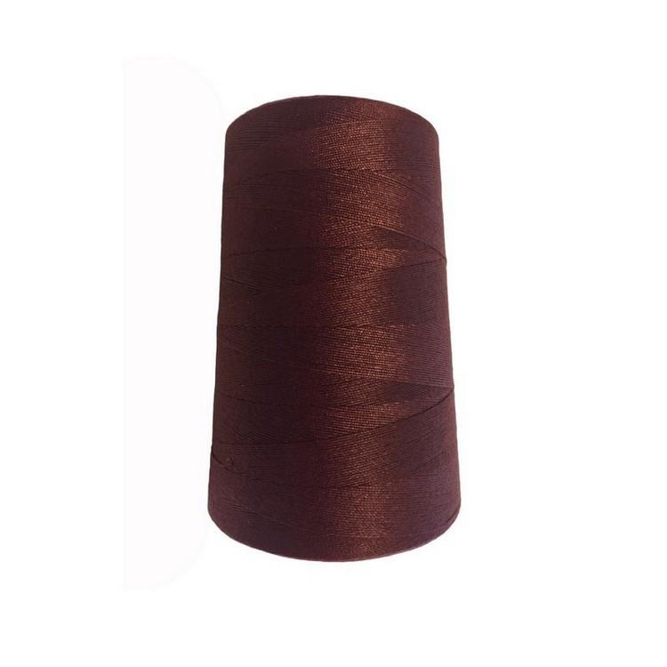 Нить швейная 100% PE 50/2 цв S-097 коричневый (боб 4000ярдов)