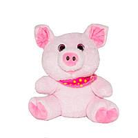 Поросенок с розовым платком, 16 см, (C1713716E-1)