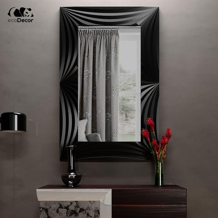 Зеркало в ванную черное Amaro