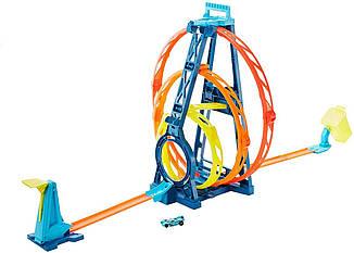 Трек Хот Вилс Тройная петля Новинка Hot Wheels Track Builder Unlimited Triple