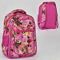 Рюкзак школьный с 2 отделениями и 3 карманами, мягкая спинка SKL11-186078