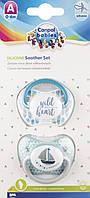 Пустышка силиконовая анатомическая 0-6 мес 2 шт 23/951 Canpol babies (Канпол бебис )голубая