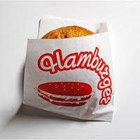 Пакет Hamburger 120*170 белый надпись 500шт/уп