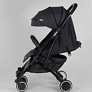 """Коляска прогулочная детская """"JOY"""" Vittoria 52254 (1) цвет Серый лен Гарантия качества Быстрая доставка, фото 2"""