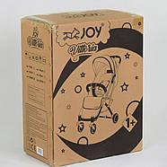 """Коляска прогулочная детская """"JOY"""" Vittoria 52254 (1) цвет Серый лен Гарантия качества Быстрая доставка, фото 6"""