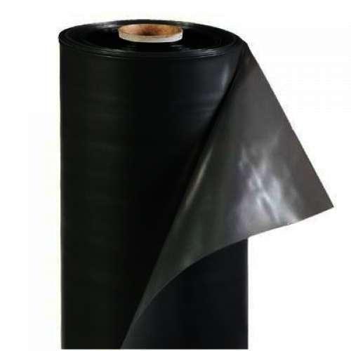 Пленка полиэтиленовая черная 180мкм, 6х50 для мульчирования, строительная