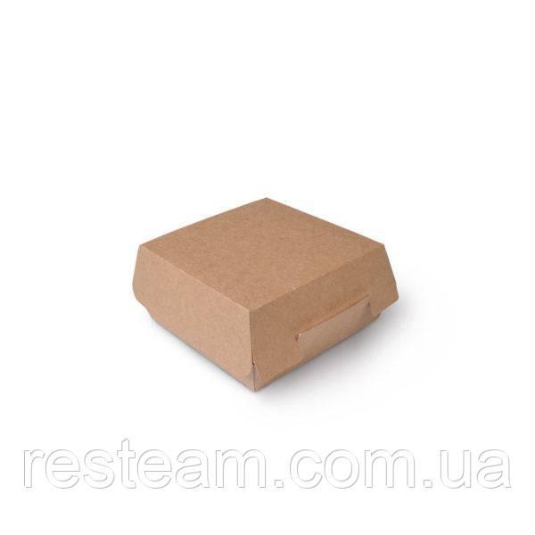 Коробка для бургеров 15*15 см бурая