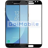 Стекло (для ремонта дисплея) Samsung J730F J7 2017 , черное ориг.Китай +  (олеофобное покрытие)