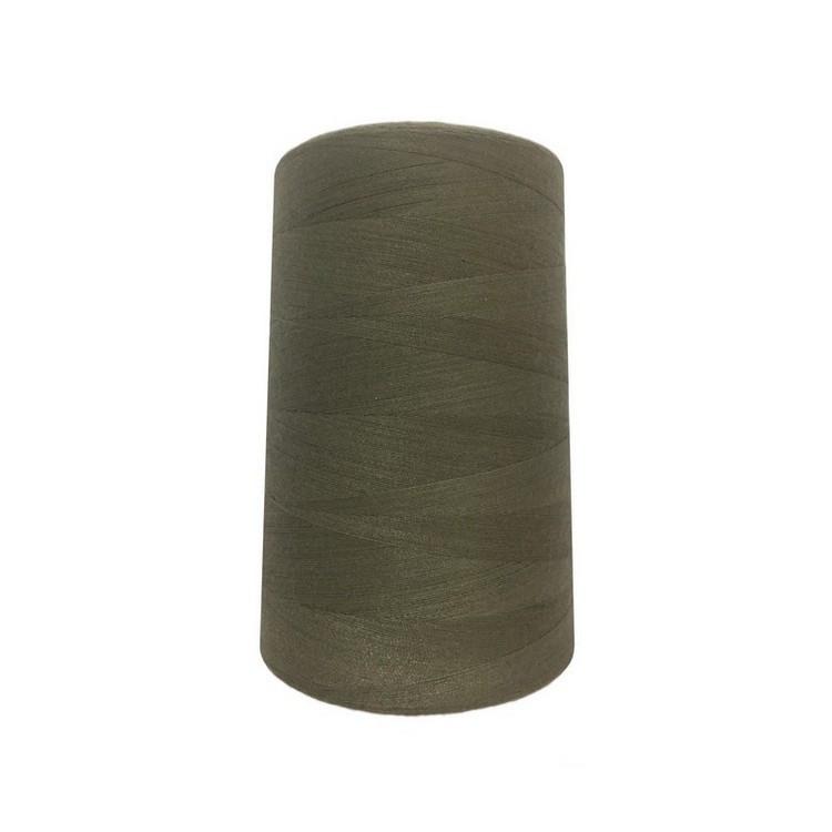 Нить швейная 100% PE 50/2 цв S-318 хаки (боб 5000ярдов/12боб/120боб) NITEX