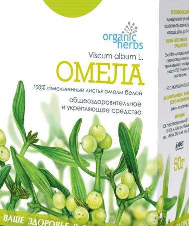 Фиточай Organic Herbs Омела 50 г