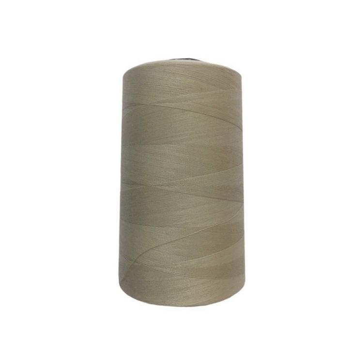 Нить швейная 100% PE 50/2 цв S-371 бежевый грязный (боб 4000ярдов/12боб/120боб) NITEX